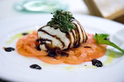Burrata alla Panna con Carpaccio di Pomodori